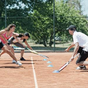 Entrainement de tennis