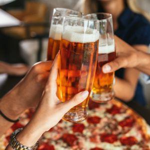 Bières et pizzas